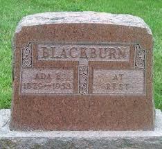 BLACKBURN, ADA - Howard County, Iowa | ADA BLACKBURN - Iowa Gravestone  Photos