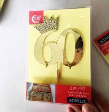 Decoracion Creativa De Oro Acrilico Feliz Cumpleanos Oro Torta