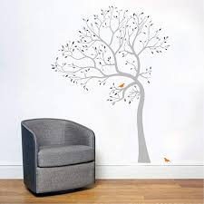 Amazon Com 6 Feet Tall Tree Wall Decal In Shades Of Grey Handmade
