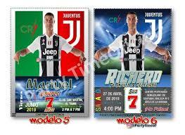 Invitacion Digital Personalizada Cristiano Ronaldo Cr7 1 500