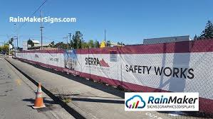 Custom Printed Mesh Banners For Construction Sites By Rainmakersigns Com