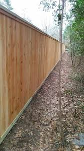 Privacy Fence With Cap Rail Cedar Fence Outdoor Living Colorful Space