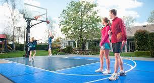 Backyard Basketball Court Sport Court Of Oregon Oregon