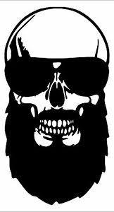 2 Large Bearded Skull Vinyl Funny Decals 12 12 Colors For Trucks Cars Ebay
