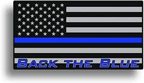 Amazon Com Back The Blue American Flag Blue Line Sticker Decal Lives Matter By 215 Decals Arts Crafts Sewing