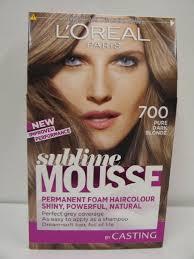 permanent foam hair colour 700 pure