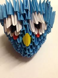 3D Origami Blue Bird (from Angry Birds)