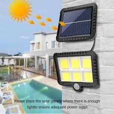 100 120led solar lamp pir motion sensor