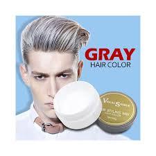 5 colors hair wax diy grandma grey one
