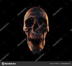 skeleton wallpaper 3d skull burned
