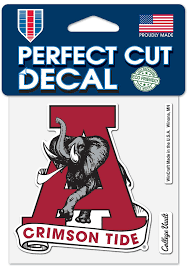 Alabama Crimson Tide 4x4 Auto Decal Red 57101100