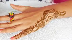 mehndi design back side hand