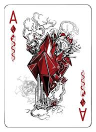 The Ace of Diamonds | Playing cards art, Card art