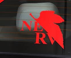 Neon Genesis Evangelion Nerv Vinyl Decal Multiple Colors Etsy