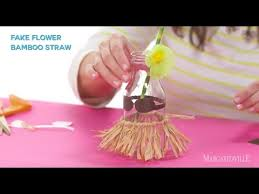 diy hula grass skirt for your drink