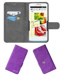 Alcatel One Touch Scribe Easy 8000D Flip Cover by ACM - Purple Clip holder  to hold ...