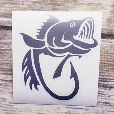 Fish Hook Decal Fish Decal Yeti Decal Yeti Cup Decal Car Etsy