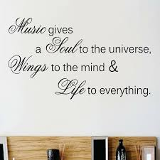 Design With Vinyl Music Gives A Soul To The Universe Wall Decal Wayfair