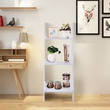 leaning wall ladder book shelf bookcase