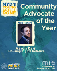 Meet the Honorees: Aaron Carr – MYD.NYC