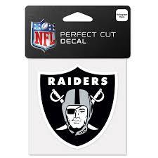 Oakland Raiders 4 X4 Diecut Decal Logo Crawford S Gift Shop