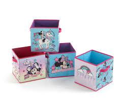 Disney Minnie Mouse Storage Cubes With Unicorn Designs Set Of 4 Walmart Com Walmart Com