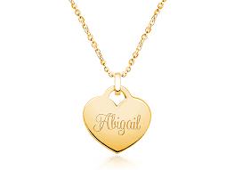 14k gold heart engraved children s