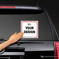 Custom Square Stickers Design Your Own Bumper Sticker