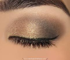 makeup archive sparkly gold