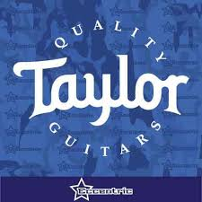 Taylor Quality Guitars Decal Car Truck Window Sticker Laptop Store Vin Eccentric Mall