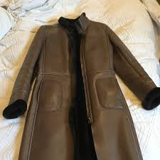 womens faux fur lined leather coat