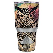 Skin Decal Vinyl Wrap For Ozark Trail 30 Oz Tumbler Cup Stickers Skins Cover 6 Piece Kit Tribal Abstract Owl Walmart Com