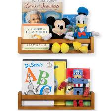 Nursery Book Shelf Wood Floating Bookshelf For Kids Room Multiuse Kitchen And Bathroom Organizer Walnut Set Of 2 Walmart Com Walmart Com