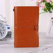 faux leather travel journal writing