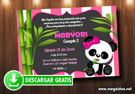 Invitaciones De Osita Panda Para Editar Gratis Mega Idea