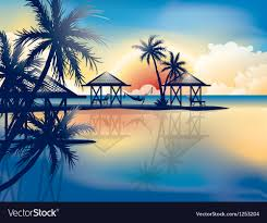 tropical beach royalty free vector