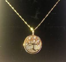 chain pendant mother of pearl 18 kt