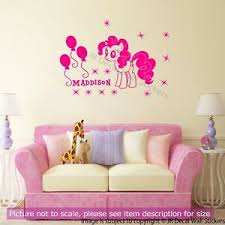 My Little Pony Pinkie Pie Friendship Characters Girls Name Vinyl Wall Sticker D1 Ebay