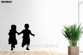 Mad World Boy And Girl Holding Hands Children Kids Wall Art Sticker Wall Decal Home Diy Decoration Removable Decor Wall Stickers Wall Sticker Decorative Wall Stickerswall Art Stickers Aliexpress