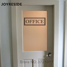 Office Door Decal Office Sign Business Work Decor Shop Decor Home Rooms Door Or Wall Vinyl Stickers 40 Colors Available M025 Wall Stickers Aliexpress