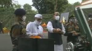 Defense Minister Rajnath Singh did arms worship in Sikkim said - Indian  Army will not let anyone take even an inch of land - रक्षा मंत्री राजनाथ  सिंह ने की सिक्किम में