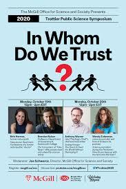 "Trottier Public Science Symposium ""In Whom Do We Trust"" featuring Anthony  Warner & Wendy Zukerman   Newsroom - McGill University"