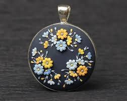 unique fl pendant necklace with