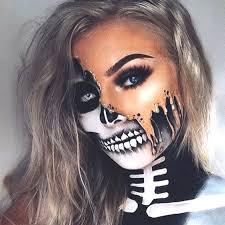 half skull makeup look ecemella