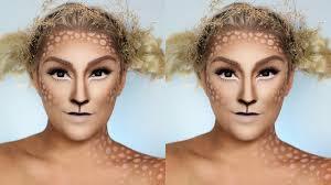 super easy deer makeup last minute