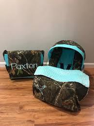 camo fabric infant car seat cover