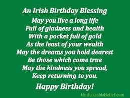 an irish birthday blessing birthday quote com