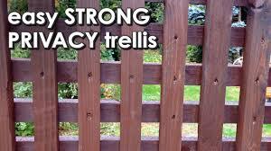 Easy Privacy Trellis Strong Simple The Perfect Garden Screen Youtube