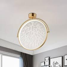 rotating mirror ceiling lamp minimalist