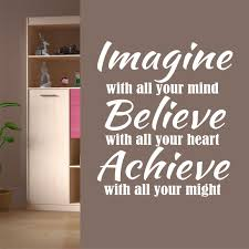 Motivational Wall Decal Imagine Believe Achieve